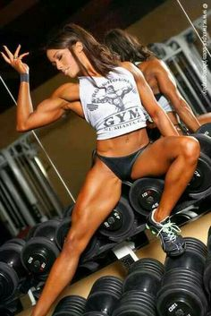 Fit woman's