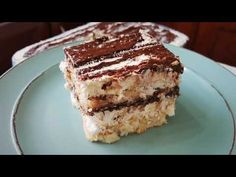Εύκολο γλυκό ψυγείου με καρύδα και nutella!! - YouTube Nutella, Greek Recipes, Easy Desserts, Tiramisu, Ethnic Recipes, Youtube, Food, Essen, Greek Food Recipes