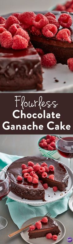 Flourless Chocolate Ganache Cake Recipe - The rich, decadent flavor of this Flourless Chocolate Ganache Cake pairs perfectly with a merlot or cabernet sauvignon. The fudgy chocolate taste and hints of coffee flavor make for a purely indulgent experience.