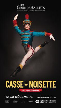 Le CASSE-NOISETTE fête ses 50 ans! 12 au 30 décembre 2013. Créée en 1964 pour Les Grands Ballets, l'adaptation chorégraphique du conte d'Hoffmann par le Québécois Fernand Nault (1920-2006) est l'une des plus belles. Interprétée par une centaine de danseurs dans des décors somptueux  et des costumes scintillants. Chaque année, une centaine d'enfants sont sélectionnés pour interpréter les rôles de Souris, de Rats, d'Anges bonbon-mousse, de Rennes, de Moutons... et, bien sûr, de Clara et de…