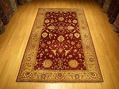 6 x 10  High Quality Hand Knotted Natural Dyes Fine Wool Afghan Sultanabad Rug