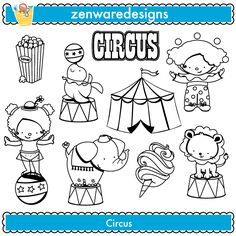 Big Top Circus Digital Stamp set includes 2 cute characters in circus costumes, trapeze, elephant, popcorn, candy, clown graphics. Welcome to the BIG Top! This set includes several circus icons! These would be great [...]
