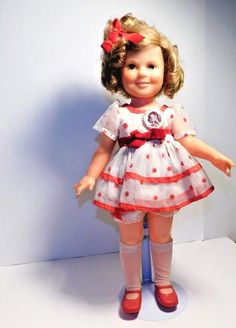 Shirley Temple Doll 1972 Ideal with Pin The Worlds Darling Ideal Novelty No 1 #IDEAL #DollswithClothingAccessories