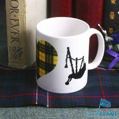 Clan MacLeod Bagpipes Mug
