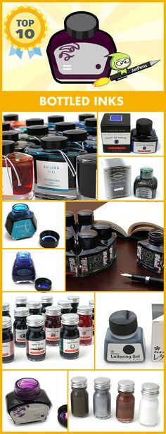 These are our top-rated bottled inks, perfect for pairing with your fountain pens.