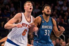 Towns y Porzingis nombrados otra vez Novatos del Mes en la NBA