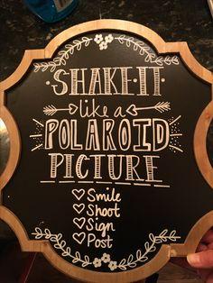 Wedding Polaroid station chalkboard