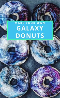 Feel trendy as f*ck and make these galaxy donuts.