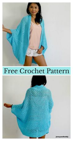 Granny Stitch Easy Cardigan Free Crochet Pattern #freecrochetpatterns #sweater