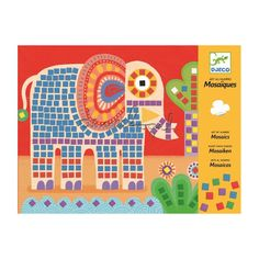 Djeco Mosaics - Elephant and Snail. Available in store at Giddy Goat Toys, Didsbury, Manchester, or on our online store. Goat Toys, Fun Crafts, Arts And Crafts, Mosaic Kits, Mosaic Pictures, Mosaic Crafts, Educational Toys For Kids, Craft Kits, Oeuvre D'art