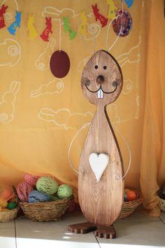 Handmade Wooden Easter Bunny Rabbit Decor Spring by WoodieCrafts Handmade Wooden, Handmade Gifts, Bunny Rabbit, Easter Bunny, Wood Crafts, Arts And Crafts, Spoons, Kids, Craft Ideas