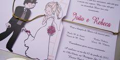 Essa noiva amarrou o noivo e o casamento tá marcado. E o convite ficou uma gracinha!