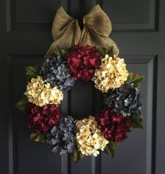 Patriotic Wreath Americana Decor 4th of July by HomeHearthGarden