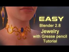 My first ever video tutorial. Please let me know what do you think in the comments. In this tutorial I will be showing how to create fast and easy jewellery(. Blender Models, Blender 3d, How To Use Blender, Principles Of Animation, Video Game Development, Blender Tutorial, Modeling Tips, 3d Tutorial, Animation Reference