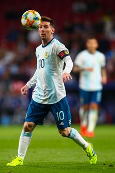 MADRID, SPAIN - MARCH 22: Lionel Messi of Argentina during the International Friendly match between Argentina and Venezuela at Estadio Wanda Metropolitano on March 22, 2019 in Madrid, Spain. (Photo by Robbie Jay Barratt - AMA/Getty Images) Soccer Pro, Messi Soccer, Messi 10, Messi Pictures, Football Pictures, Ballon D'or, Fc Barcelona, Leonel Messi, Best Football Players