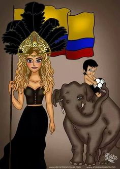 "LAS CADERAS TABASCO: Dibujo: Shakira y Milan en el video ""La La La (Bra..."