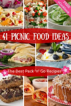 Planning a picnic is a great idea, but sometimes we get stumped on what to bring. Not anymore, 'cause these 41 picnic food ideas are totally portable and easy to make. You'll only need a few containers and everyone will be full - no problem! From appetizers to meaty hand-helds and desserts, these picnic food recipes are awesome!