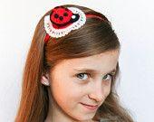 Ladybug Headband for Girls, Spring Fashion for Kids