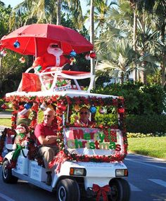 the captiva island golf cart parade is saturday dec 8 2012 http - Golf Cart Christmas Decorations