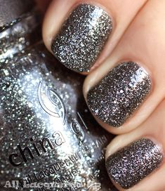 China Glaze Tinsel Town - Been looking for a good glitter polish, most are silver with glitter but I want only glitter