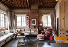 20 Breathtaking Rooms With Exposed Brick via Brit + Co.