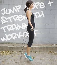 30-Minute Jump Rope + Strength Training Interval Workout - great mix of cardio and strength!