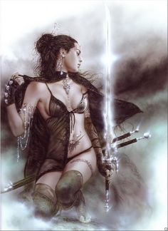 Although not a tattoo artist, Luis Royo is one of Nurs' current fav artists. repin by #dazehub #daze