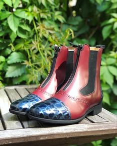 Oxblood, Short Boots, Royal Blue, Chelsea Boots, Model, Shoes, Collection, Fashion, Low Boots
