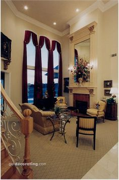 Living Rooms,Fireplace/Mantels,Window Coverings