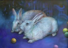 Ideally Violet - Animal Art oil paintings by Wendy Vaughan