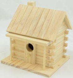 Log Cabin Birdhouse | Wood Birdhouse