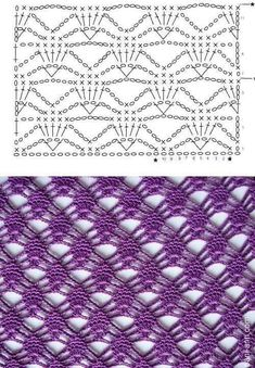 Diy Crafts - -Crochet Lace Edging For Shawl New Ideas crochet Crochet Motif Patterns, Crochet Lace Edging, Crochet Diagram, Crochet Stitches Patterns, Crochet Chart, Free Crochet, Stitch Patterns, Knitting Patterns, Diy Crafts Crochet