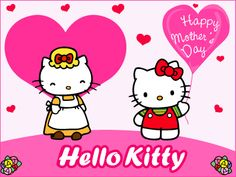 mothers day clipart | Happy Mother's Day , Hello Kitty , Pink Hearts :: Mother's Day ...