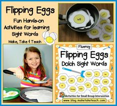 Flipping Eggs- Fun hands-on activity for learning sight words!