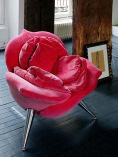 Vintage Glam in an Eclectic Paris Loft (10) - Rose Petal Chair