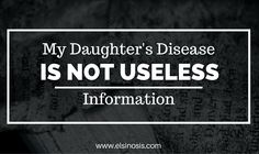"My Daughter's Disease is Not Useless Information. The Indispensible Book of Useless Facts has cystinosis under it's ""Mystery Diagnosis"" section. I explain why cystinosis is not, in fact, usless information"