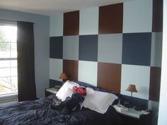Dark Brown And Blue Bedrooms...would love this in my boys bedroom.