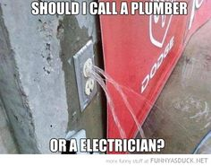What do you think? Should you call a plumber or an electrician? Please SHARE - LIKE OR COMMENT below. www.BrewerCommercialServices.com