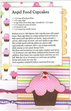 Cute idea for cupcake recipes!