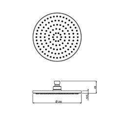 Moto Round Overhead Shower | Shower Heads | CP Hart