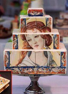 Renaissance portrait cake
