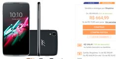 "Smartphone Alcatel Idol3 Dual Chip Android 5.1 Tela 47"" LCD IPS 16GB 4G Câmera 13MP << R$ 52649 >>"