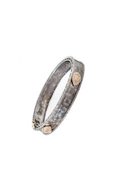 The Woods Oxidized Silver Bangle Bracelet with Diamond Evil Eye Accents at ShopGoldyn.com #TheWoods #OxidizedSilverBangle #Bracelet #DiamondEvilEye #ShopGoldyn