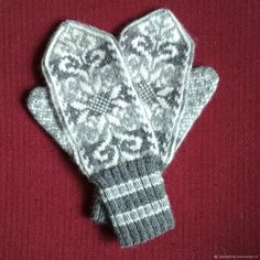 Mittens Pattern, Knit Mittens, Knitted Gloves, Knitting Socks, Textiles, Fair Isle Knitting, Shawl, Knit Crochet, Diy And Crafts