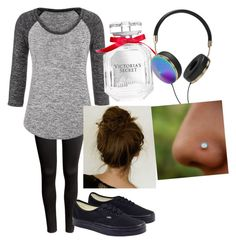 """""""Outfit of the Day"""" by fluffypunkk ❤ liked on Polyvore featuring H&M, maurices, Vans, Victoria's Secret and Frends"""