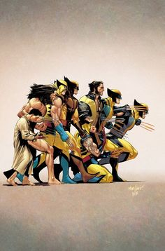 History Of The Marvel Universe variant cover - Wolverine by David Marquez, colours by Matt Wilson * Marvel Wolverine, Marvel Dc Comics, Marvel Comic Universe, Comics Universe, Marvel Heroes, Marvel Avengers, Logan Wolverine, Captain Marvel, Comic Books Art