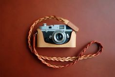 Camera leather handmade case