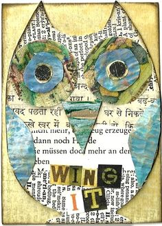 Wing It Owl Collage @ PaperPetite.etsy.com