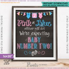 Pink or Blue Either Will Do We're Expecting by PRINTSbyMAdesign