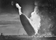 7.) This picture of the Hindenburg as it crashed.